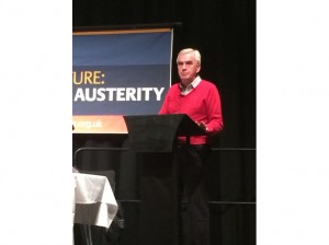 Shadow Chancellor John McDonnell MP addressing the PCS fringe meeting at TUC 2015