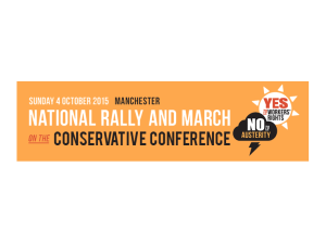 TUC rally Manchester 4th