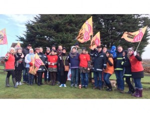 FBU members on strike in Essex in 2015