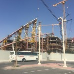 The Khalifa stadium under construction for the World Cup