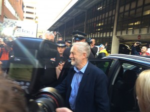 Labour leader Jeremy Corbyn arrives at TUC 2015