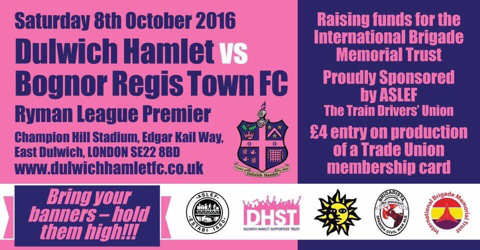 Trade union day at Dulwich Hamlet FC – bring your banners!