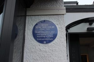 Mary Macarthur plaque