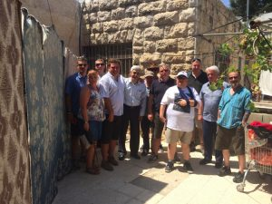 Manuel Cortes with Hugh Lanning and a PSC delegation to Palestine in 2015