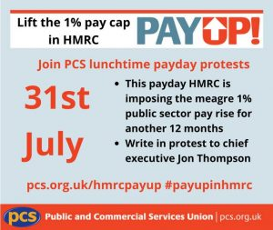 PCS pay cap HMRC