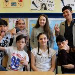 German preparatory class pupils at Findorff High School. Pic by Ben Padley