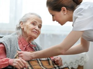 social care elderly old woman